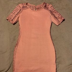 Bandage Dress with Crochet Details
